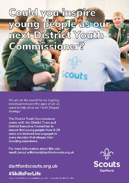 District Youth Commissioners required to help shape our District